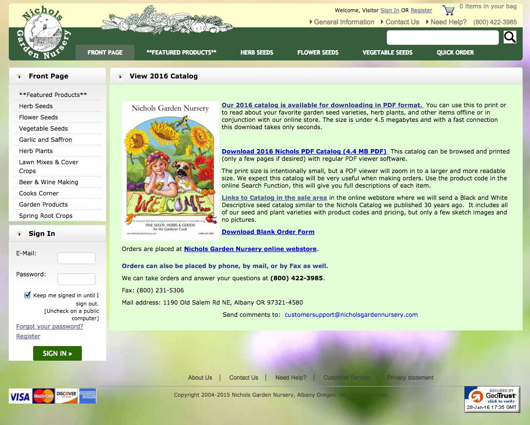 seed catalogs online